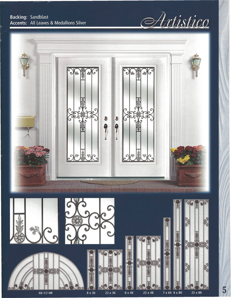 Le impact glass and wrought iron for Glass front doors residential
