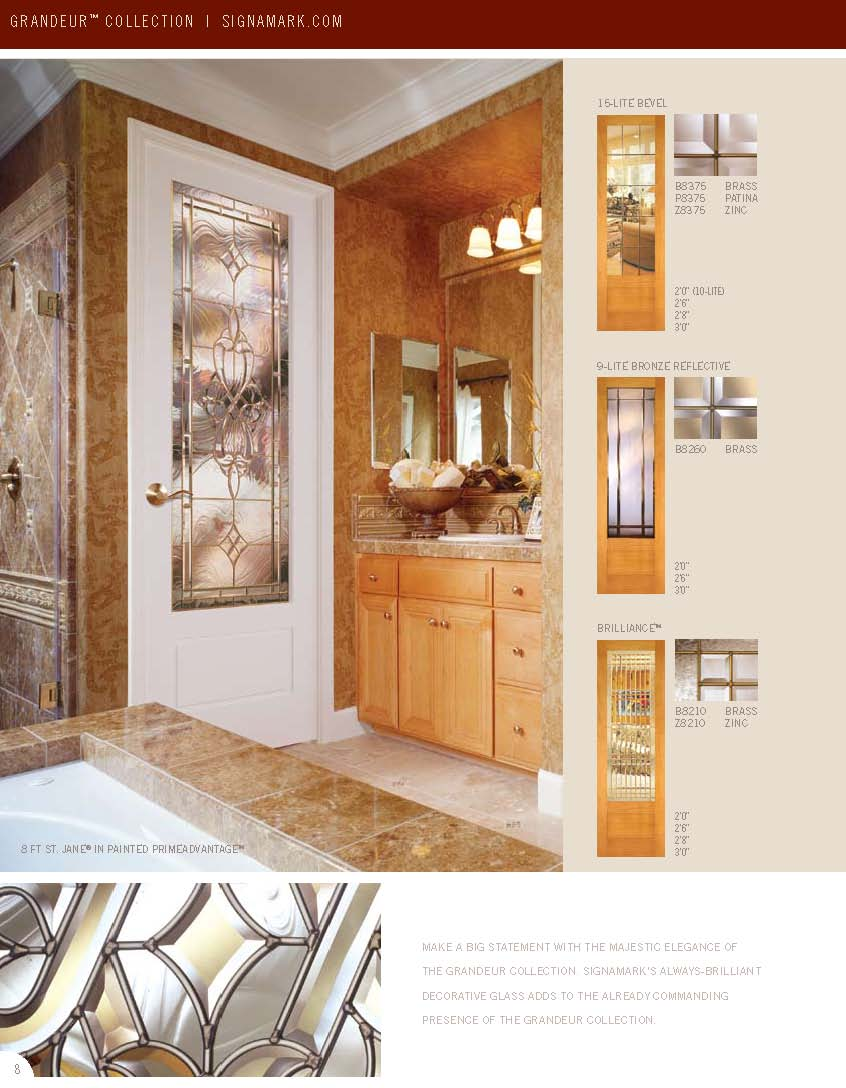 Catalogs for Signamark interior glass doors